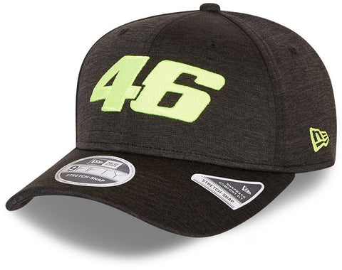 Valentino Rossi Era 950 VR46 Core Shadow Tech Stretch Snap Black Cap