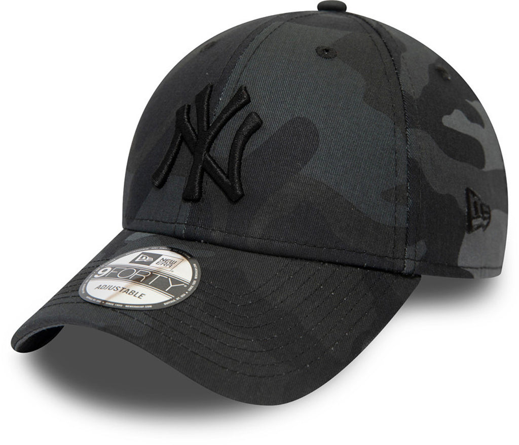 NY Yankees New Era 940 League Essential Kids Midnight Camo Baseball Cap (4 - 12 Years)
