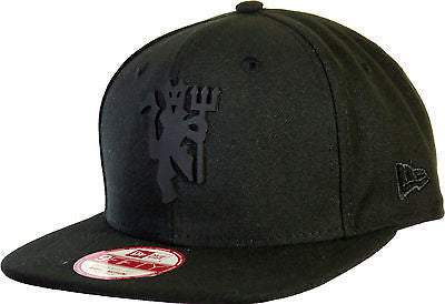 Manchester United All Black Bob Devil New Era 9Fifty Snapback Cap - pumpheadgear, baseball caps
