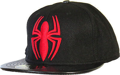 Marvel Comics Spiderman Spidermark Black Snapback Cap - pumpheadgear, baseball caps