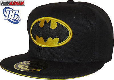 DC Comics Batman Classic Logo Black Snapback Baseball Cap - pumpheadgear, baseball caps