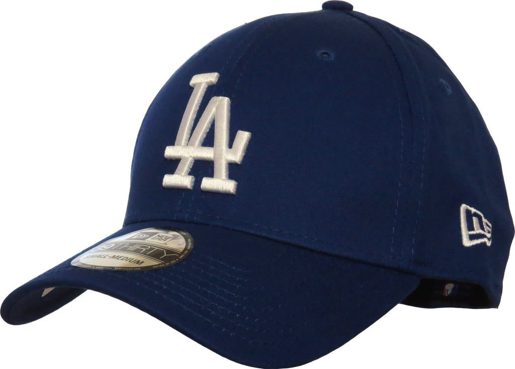 LA Dodgers New Era 3930 League Essential Royal Blue Stretch Fit Baseball Cap - pumpheadgear, baseball caps