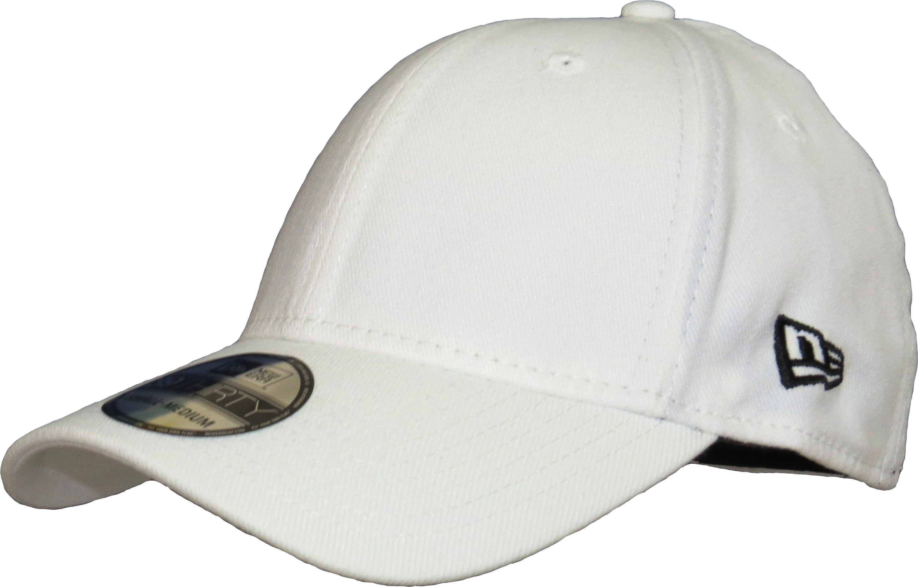 57e66bb3f67 New Era 3930 Classic Curved Peak Stretch Fit Plain White Baseball Cap -  pumpheadgear