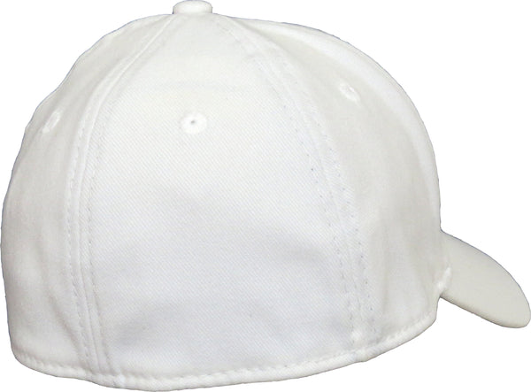 3584a01c572 ... New Era 3930 Classic Curved Peak Stretch Fit Plain White Baseball Cap -  pumpheadgear