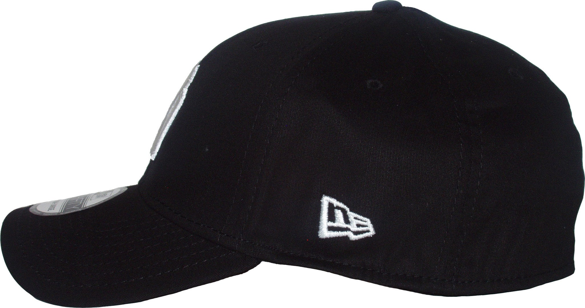 9d00517a1d9 ... New Era 3930 League Basic NY Black White Stretch Fit Baseball Cap -  pumpheadgear