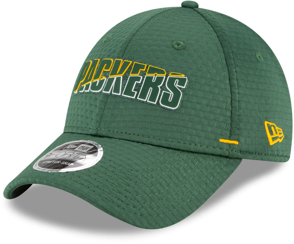 Green Bay Packers New Era 940 NFL On Field Training Stretch Snap Cap