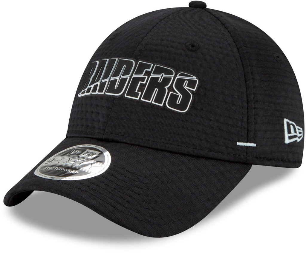 Las Vegas Raiders New Era 940 NFL On Field Training Stretch Snap Cap