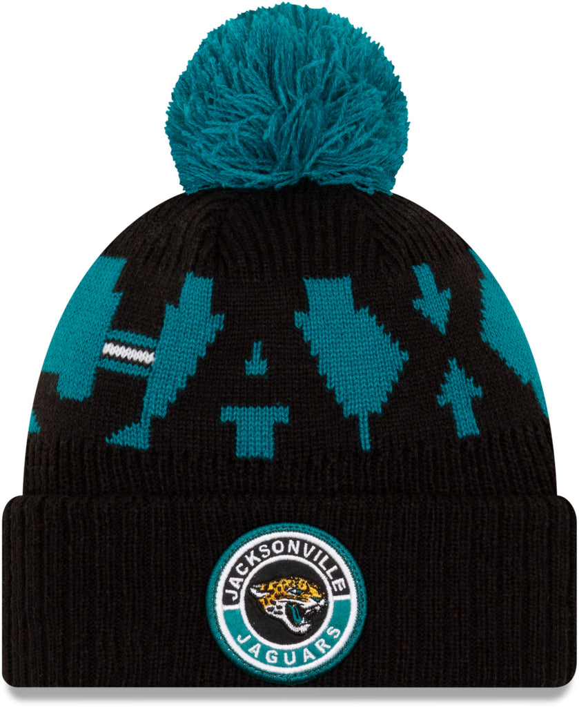 Jacksonville Jaguars New Era NFL On Field 2020 Sport Knit Bobble Hat