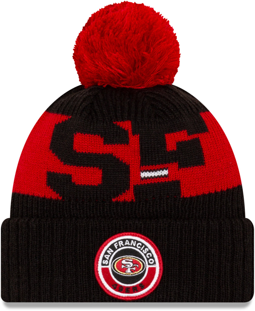 San Francisco 49Ers New Era NFL On Field 2020 Sport Knit Bobble Hat