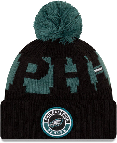 Philadelphia Eagles New Era NFL On Field 2020 Sport Knit Bobble Hat