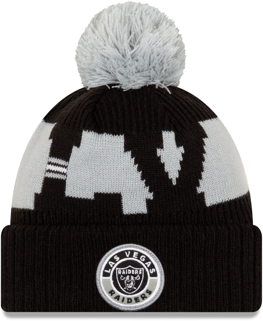 Las Vegas Raiders New Era NFL On Field 2020 Sport Knit Bobble Hat