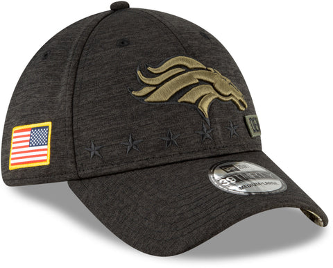 Denver Broncos New Era 3930 NFL 2020 STS Black Stretch Fit Cap