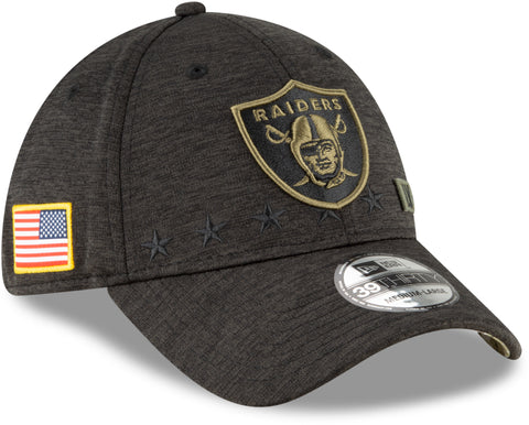 Las Vegas Raiders New Era 3930 NFL 2020 STS Black Stretch Fit Cap