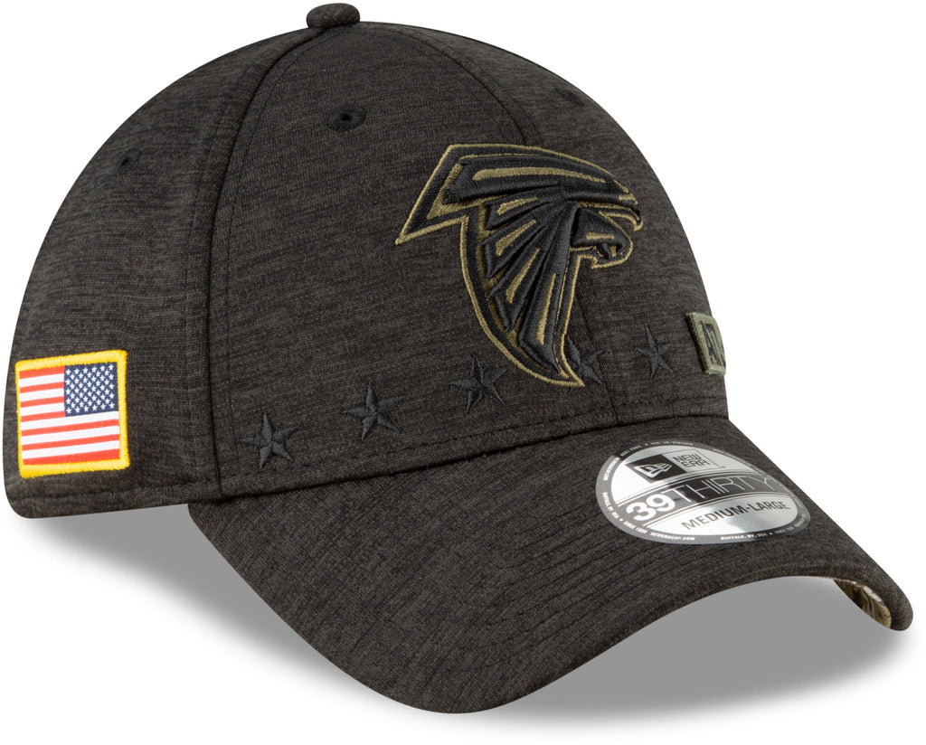 Atlanta Falcons New Era 3930 NFL 2020 STS Black Stretch Fit Cap