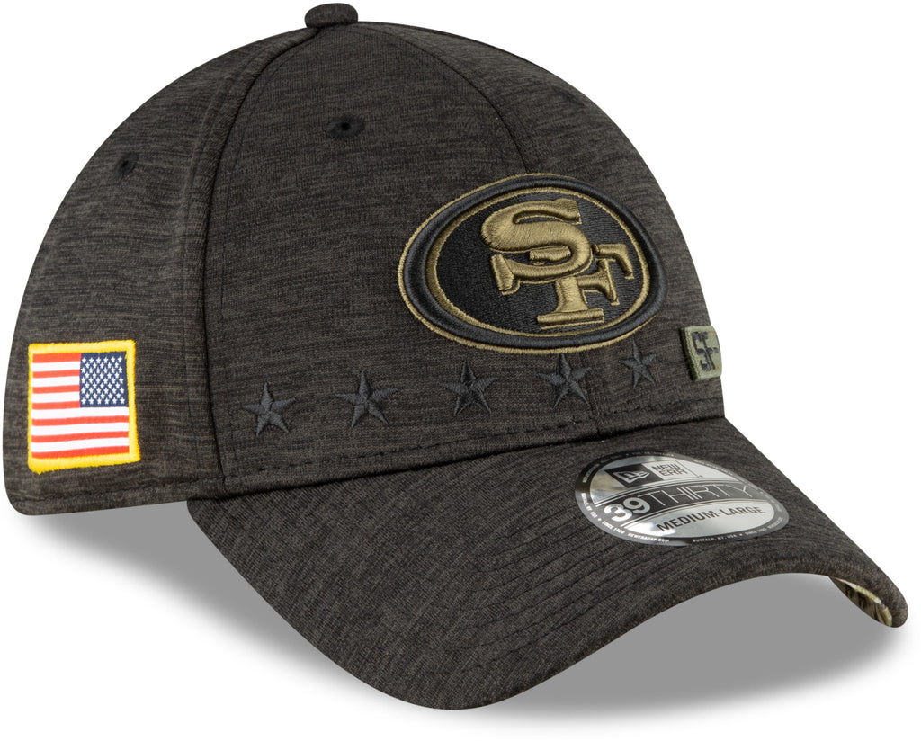 San Francisco 49Ers New Era 3930 NFL 2020 STS Black Stretch Fit Cap