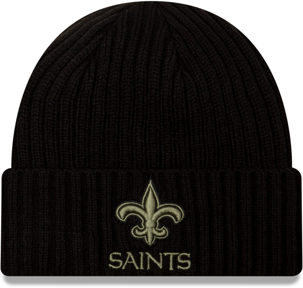 New Orleans Saints New Era NFL 2020 Salute To Service Black Knit Beanie