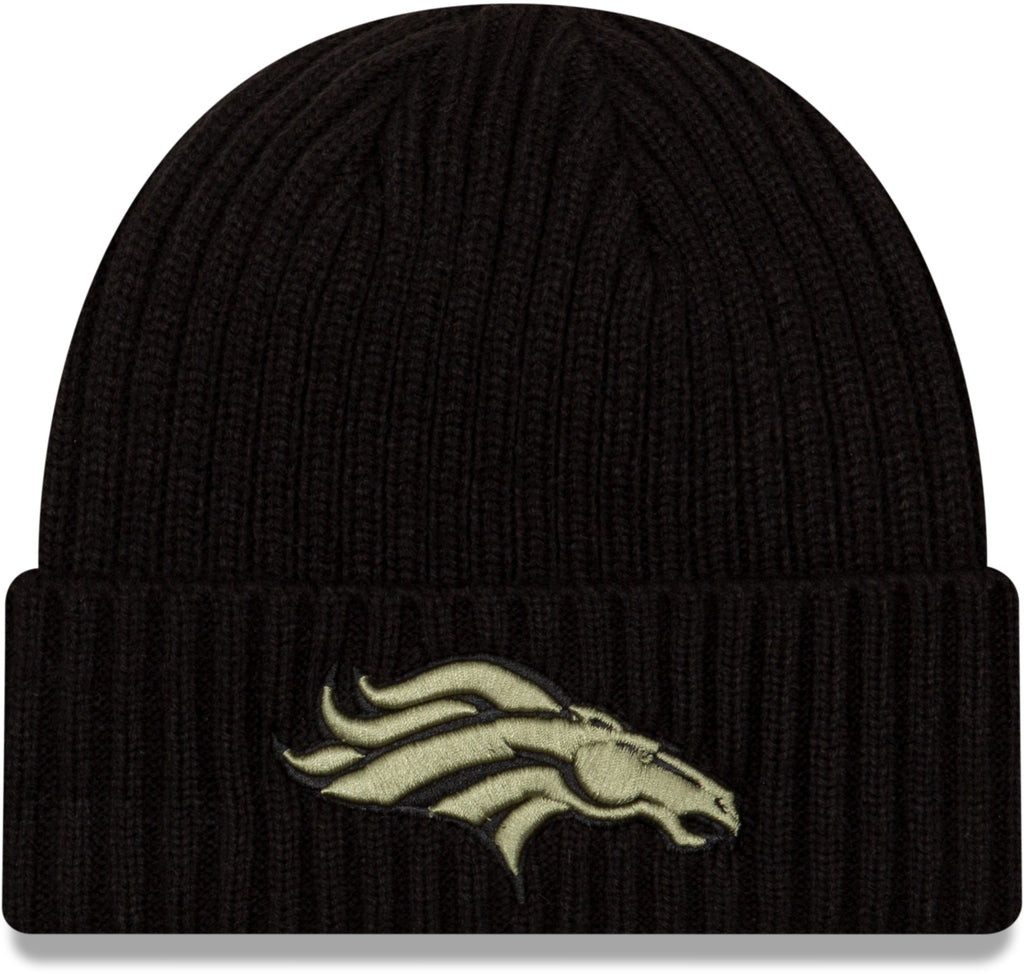 Denver Broncos New Era NFL 2020 Salute To Service Black Knit Beanie