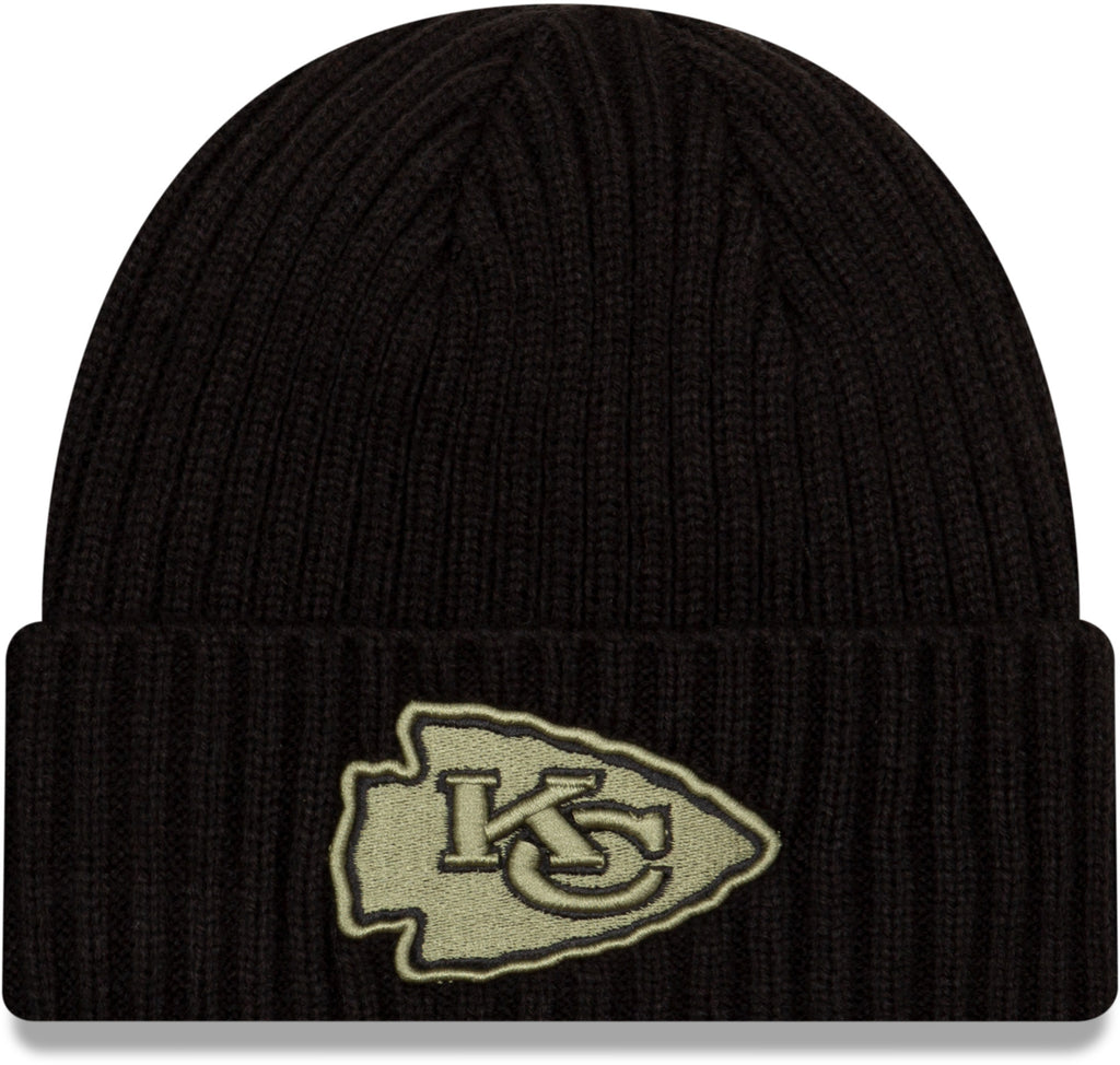 Kansas City Chiefs New Era NFL 2020 Salute To Service Black Knit Beanie