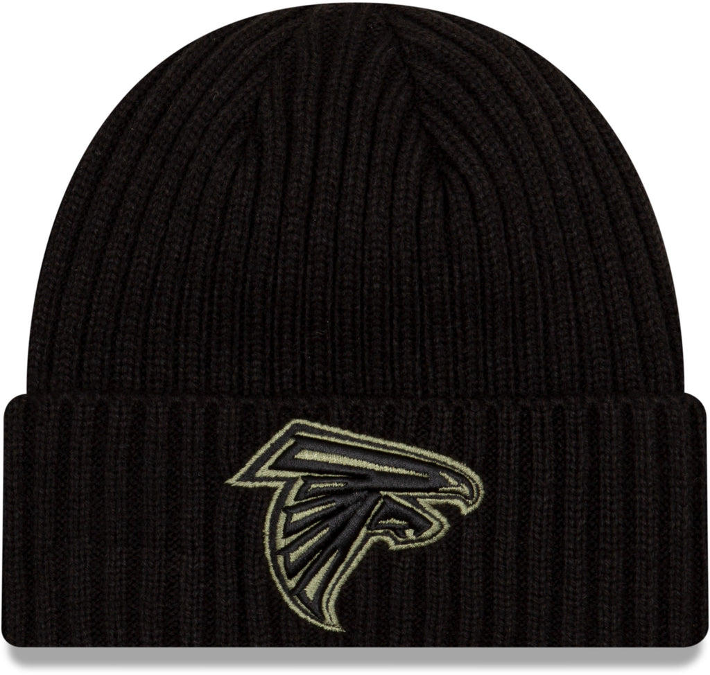 Atlanta Falcons New Era NFL 2020 Salute To Service Black Knit Beanie
