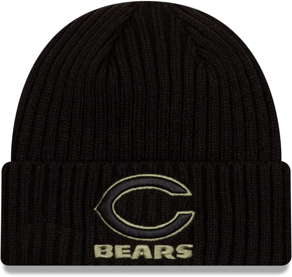 Chicago Bears New Era NFL 2020 Salute To Service Black Knit Beanie