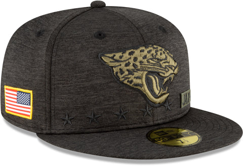 Jacksonville Jaguars New Era 5950 NFL 2020 Salute To Service Fitted Cap