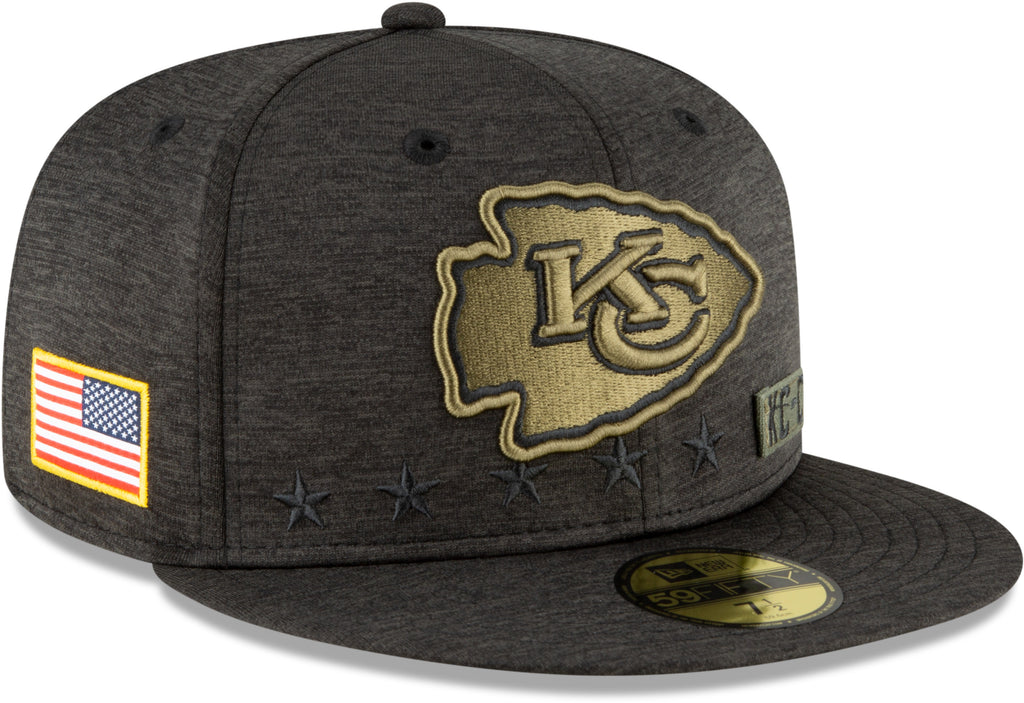 Kansas City Chiefs New Era 5950 NFL 2020 Salute To Service Fitted Cap
