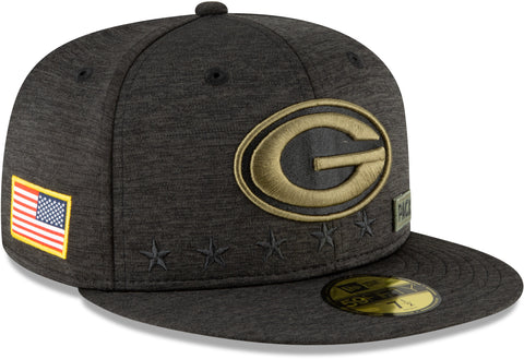 Green Bay Packers New Era 5950 NFL 2020 Salute To Service Fitted Cap