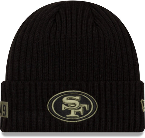 San Francisco 49Ers New Era NFL 2020 Salute To Service Black Knit Beanie