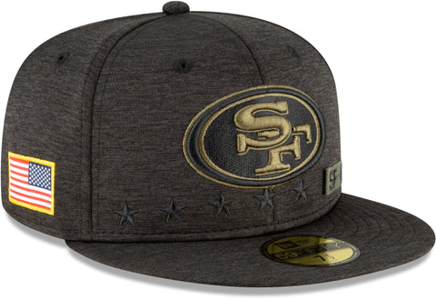 San Francisco 49Ers New Era 5950 NFL 2020 Salute To Service Fitted Cap