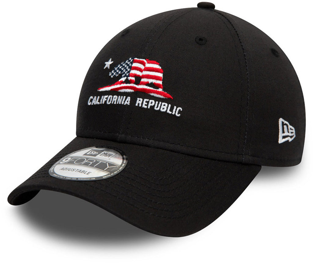 New Era 940 California Republic Black Baseball Cap