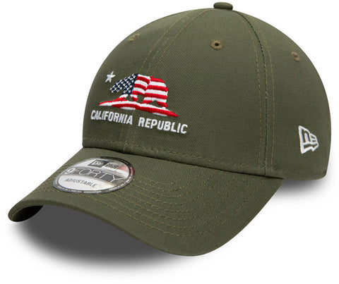 New Era 940 California Republic Olive Baseball Cap