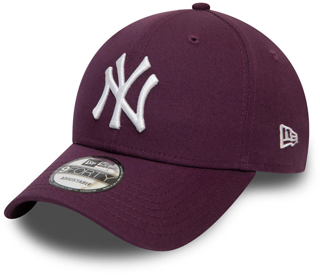 NY Yankees New Era 940 Colour Essential Maroon Baseball Cap