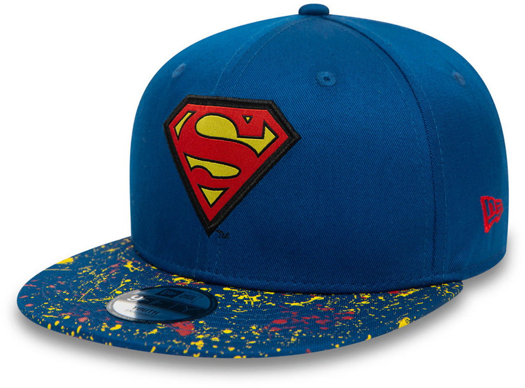 Superman New Era 950 Kids Paint Splat Visor Snapback Cap (Age 4 -12 years)