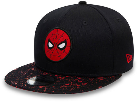 Spiderman New Era 950 Kids Paint Splat Visor Snapback Cap (Age 4 -12 years)