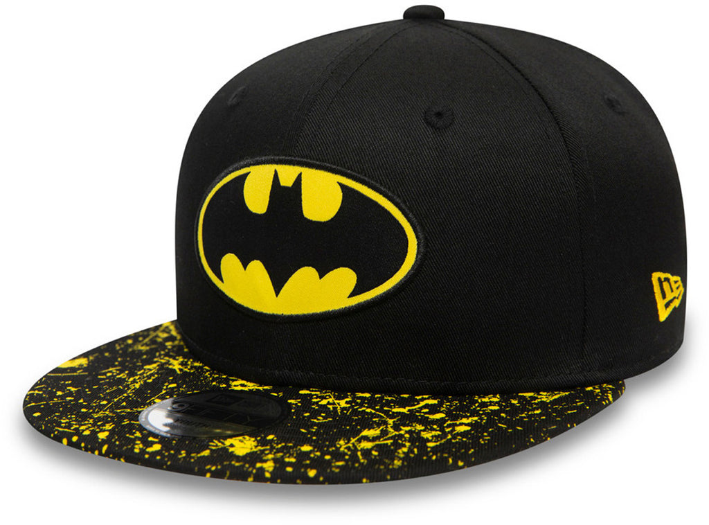 Batman New Era 950 Kids Paint Splat Visor Snapback Cap (Age 4 -12 years)