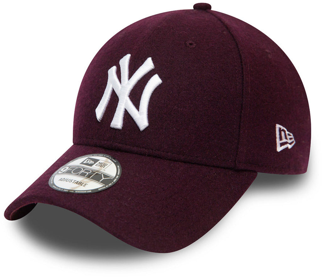 NY Yankees New Era 940 Winterized The League Maroon Baseball Cap