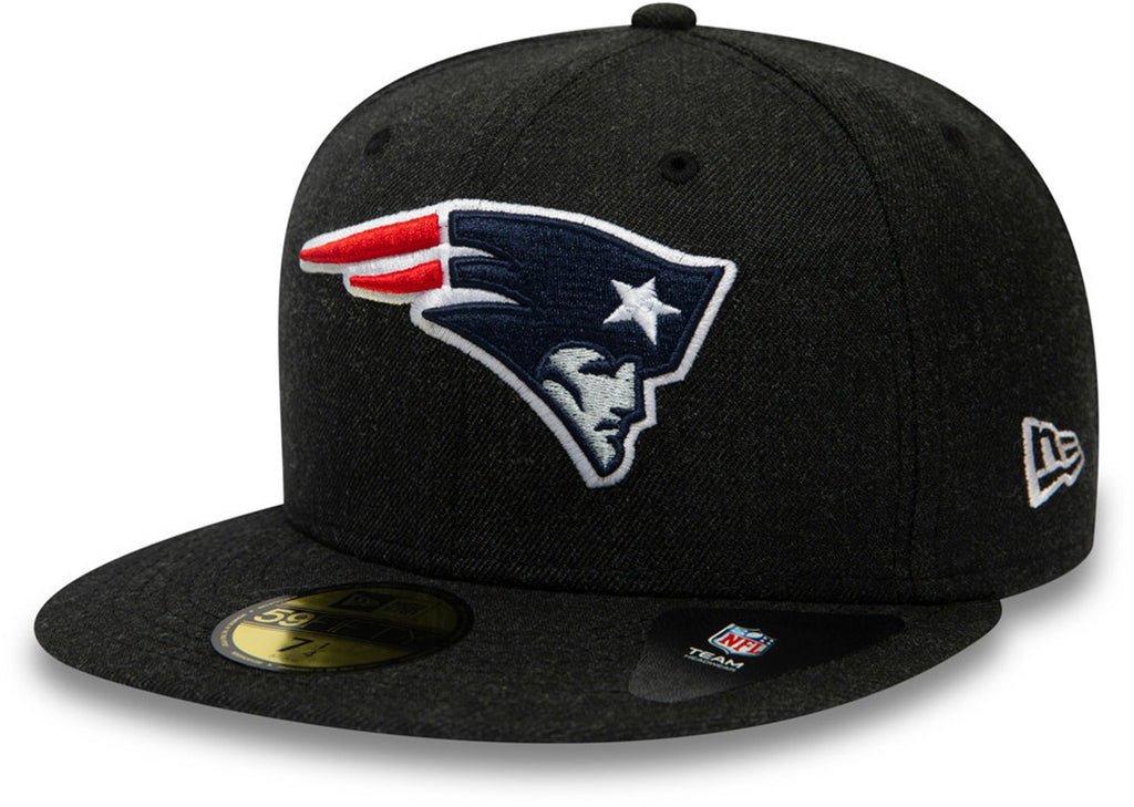 New England Patriots New Era 59Fifty Heather Black NFL Team Cap