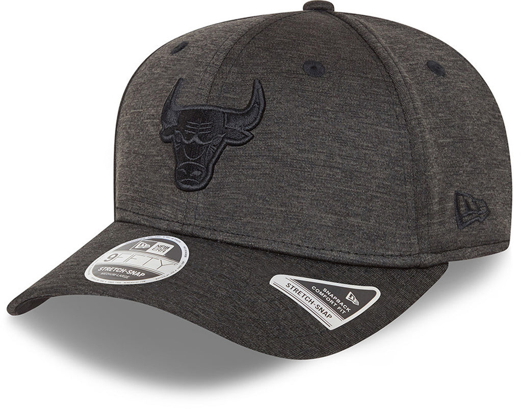 Chicago Bulls New Era 9Fifty Team Tonal Stretch Snap Black Cap