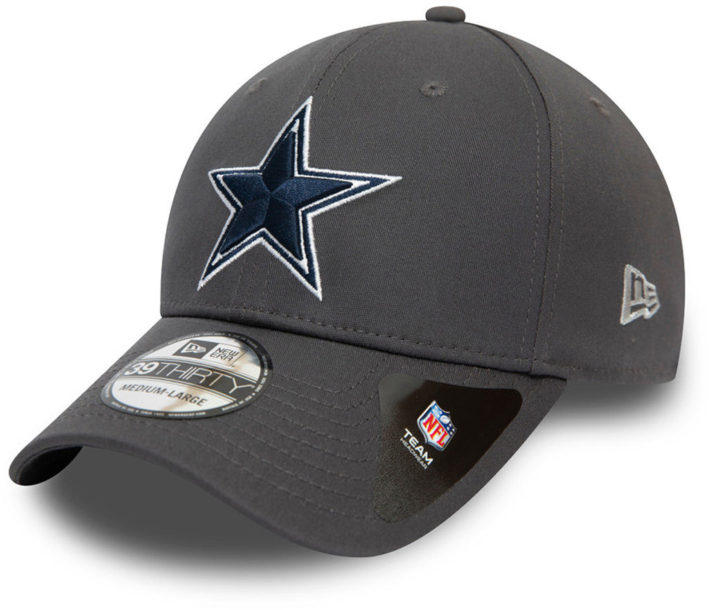 Dallas Cowboys New Era 3930 NFL Team Graphite Stretch Fit Cap