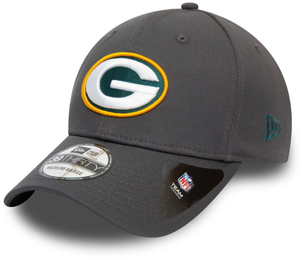 Green Bay Packers New Era 3930 NFL Team Graphite Stretch Fit Cap
