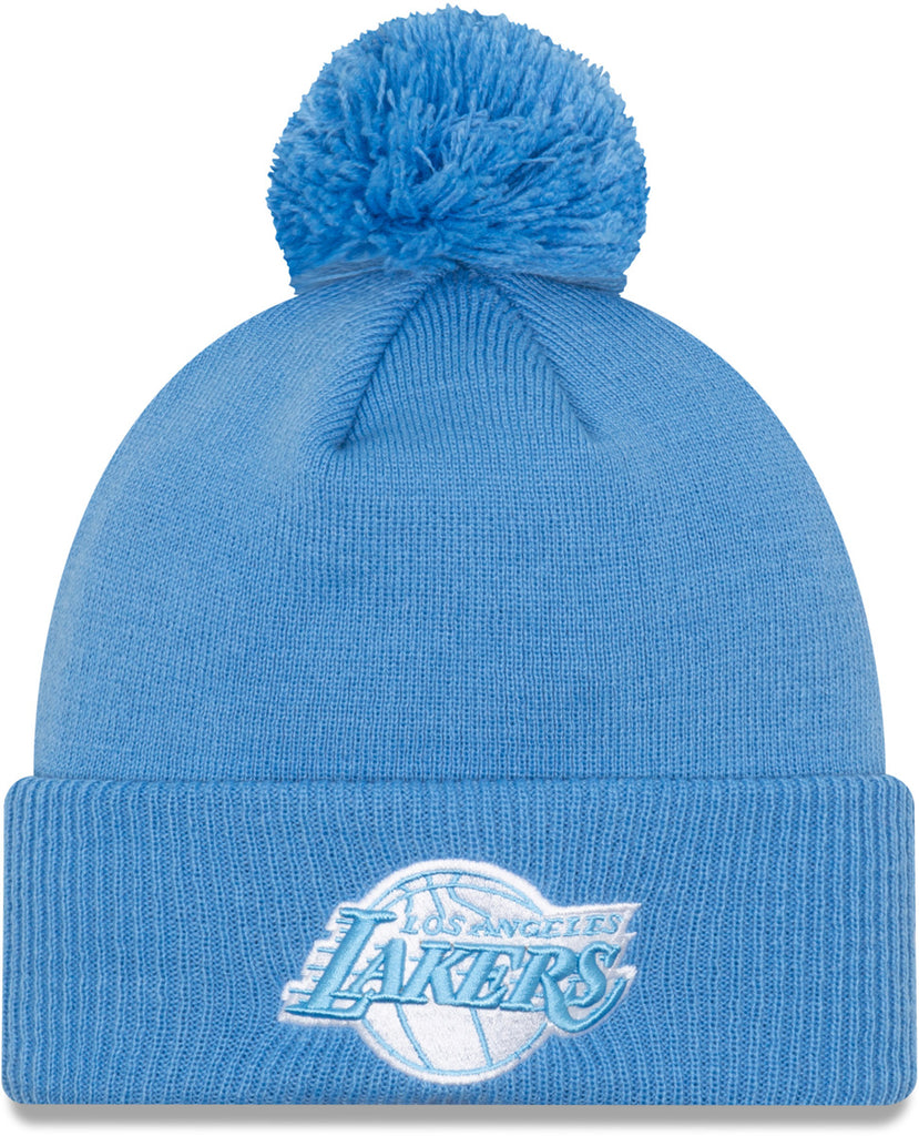 Los Angeles Lakers New Era NBA 2020 City Alt Knit Bobble Hat