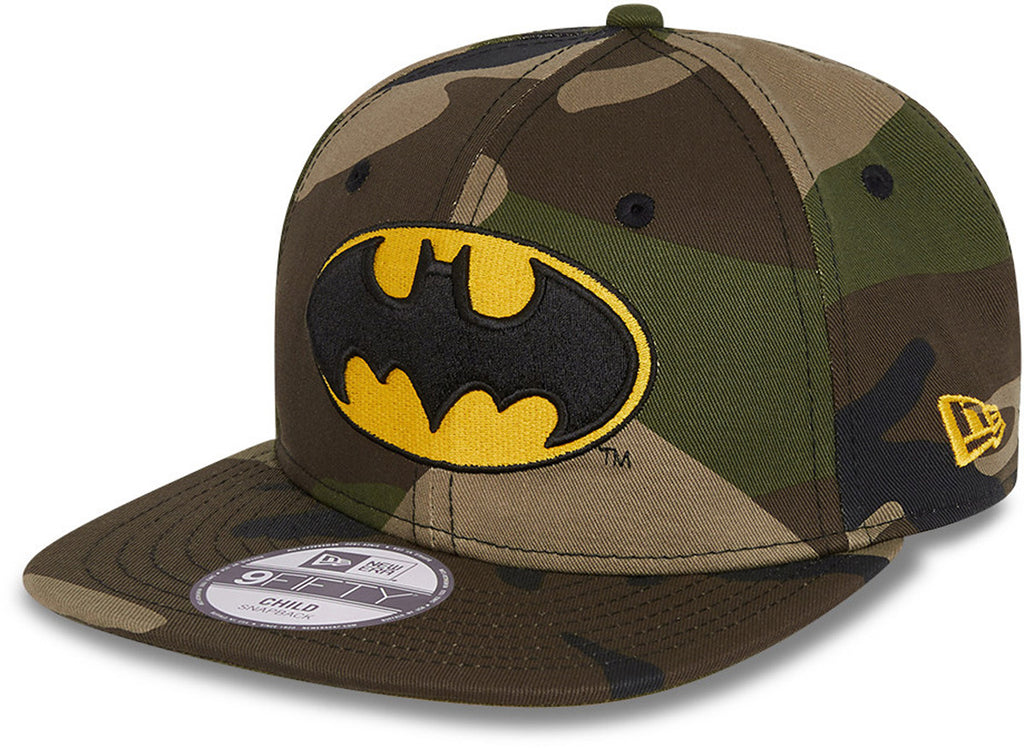Batman New Era 950 Kids Woodland Camo Snapback Cap (Age 4 -12 years)