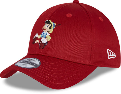 Pinocchio New Era 940 Cartoon Character Kids Red Cap (Age 0 - 12 Years)