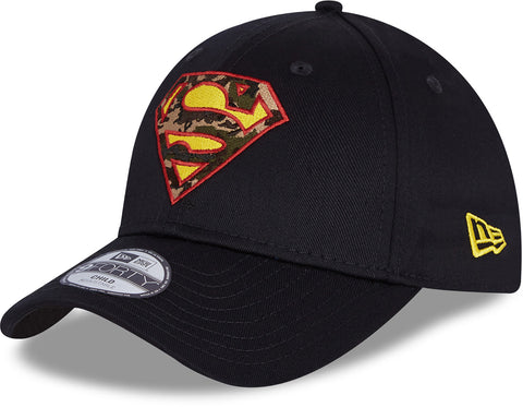 Superman New Era 940 Kids Character Infill Black Cap (Age 4 -12 Years)