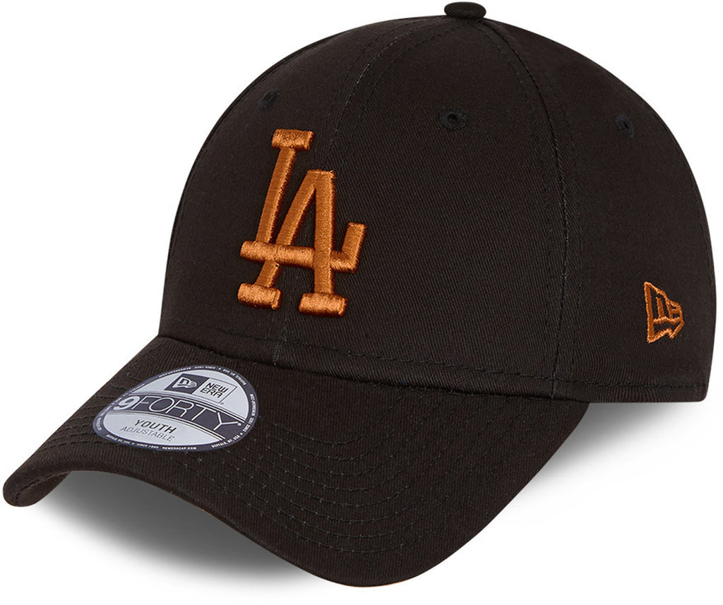 LA Dodgers Kids New Era 940 League Essential Black Baseball Cap (Ages 6 - 12)