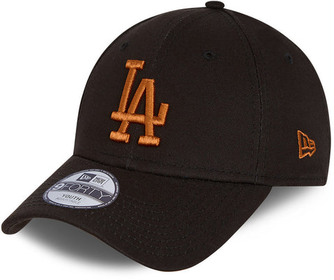 LA Dodgers Kids New Era 940 League Essential Black Baseball Cap (Ages 0 - 12 Years)