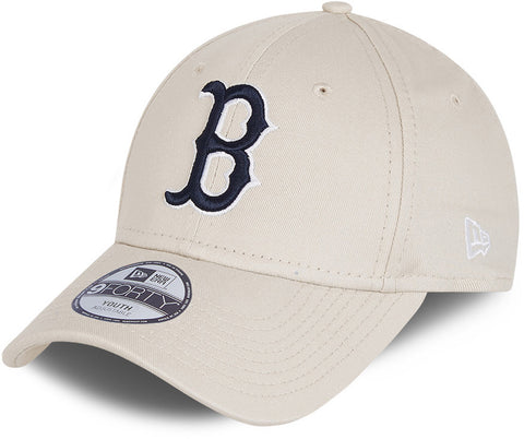 Boston Red Sox Kids New Era 940 League Essential Stone Baseball Cap (Ages 4 - 12 Years)