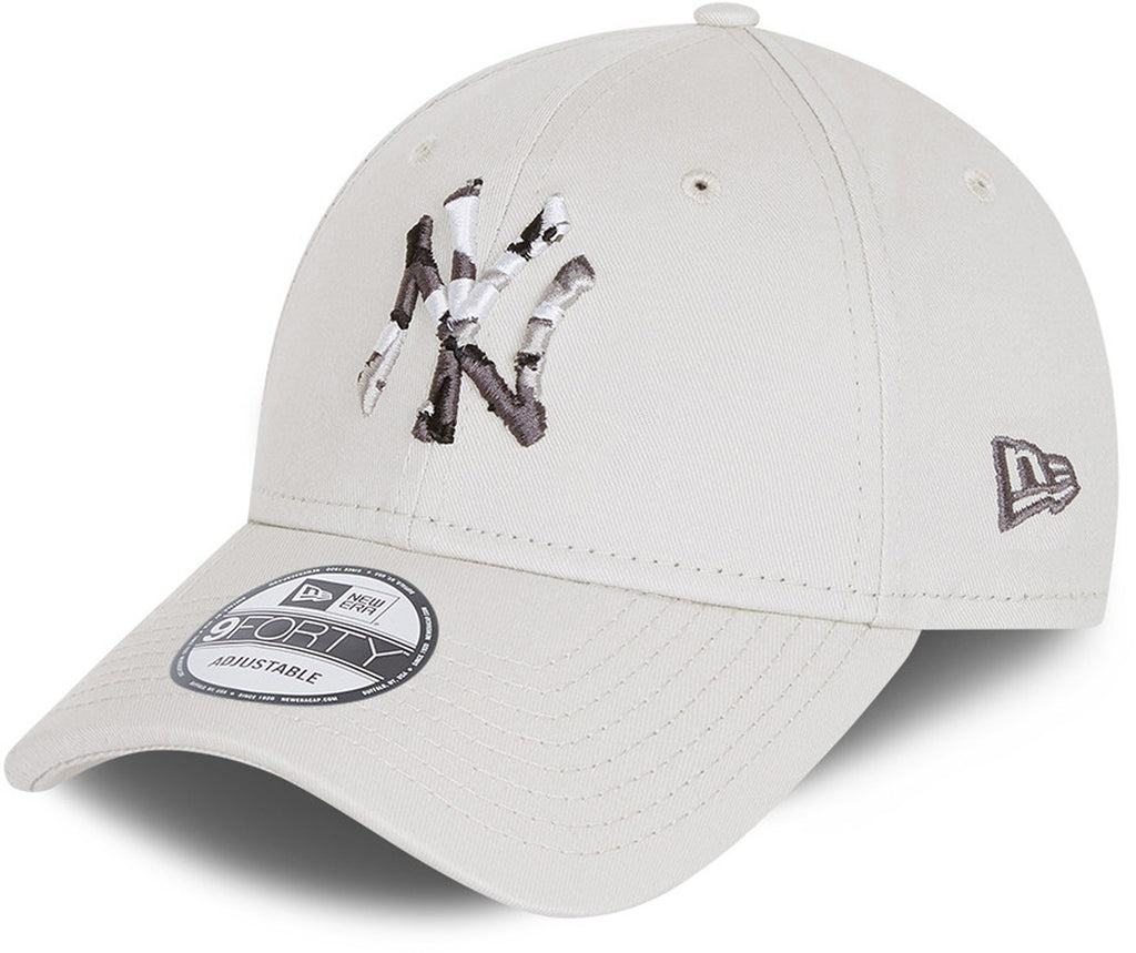 NY Yankees Kids New Era 940 Camo Infill Stone Baseball Cap (Ages 6 - 12)