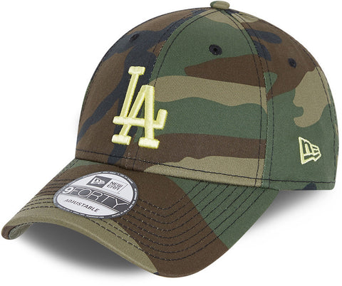 LA Dodgers Kids New Era 940 Woodland Camo Baseball Cap (Ages 6 - 12)