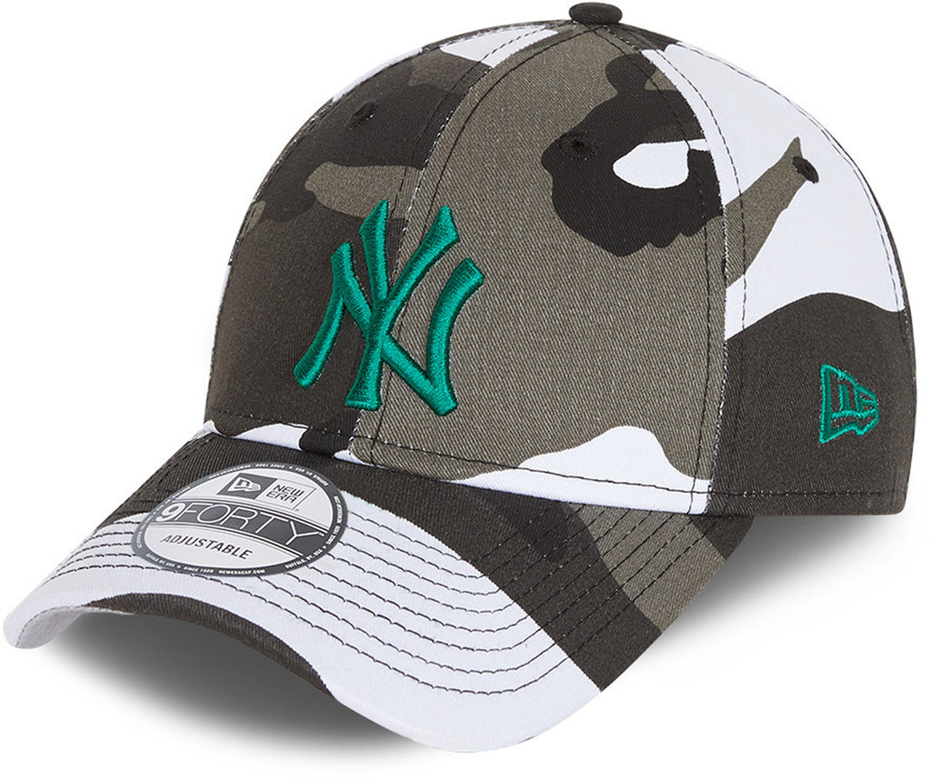 NY Yankees Kids New Era 940 URC Camo Baseball Cap (Ages 6 - 12)